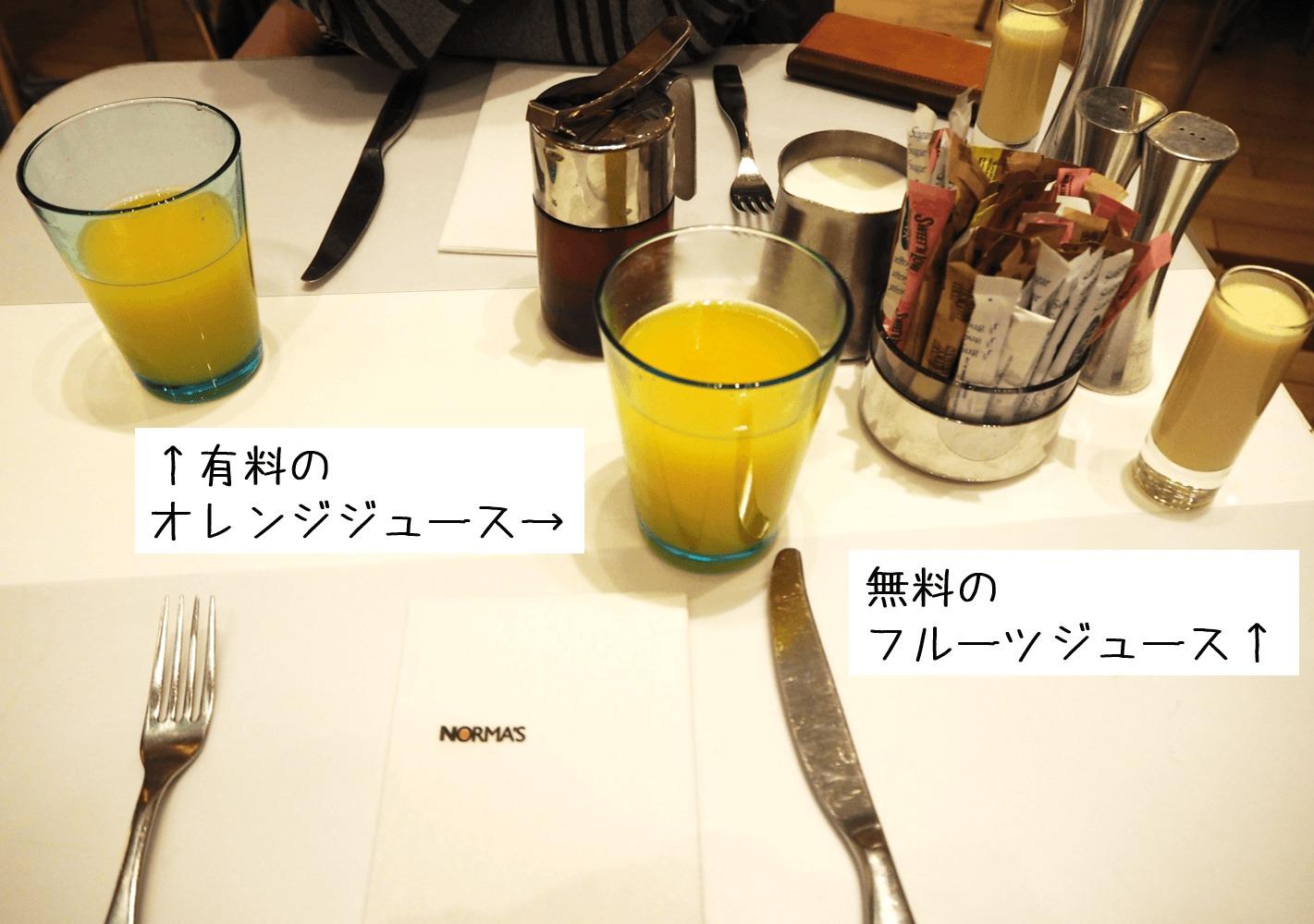 ノーマズのジュース