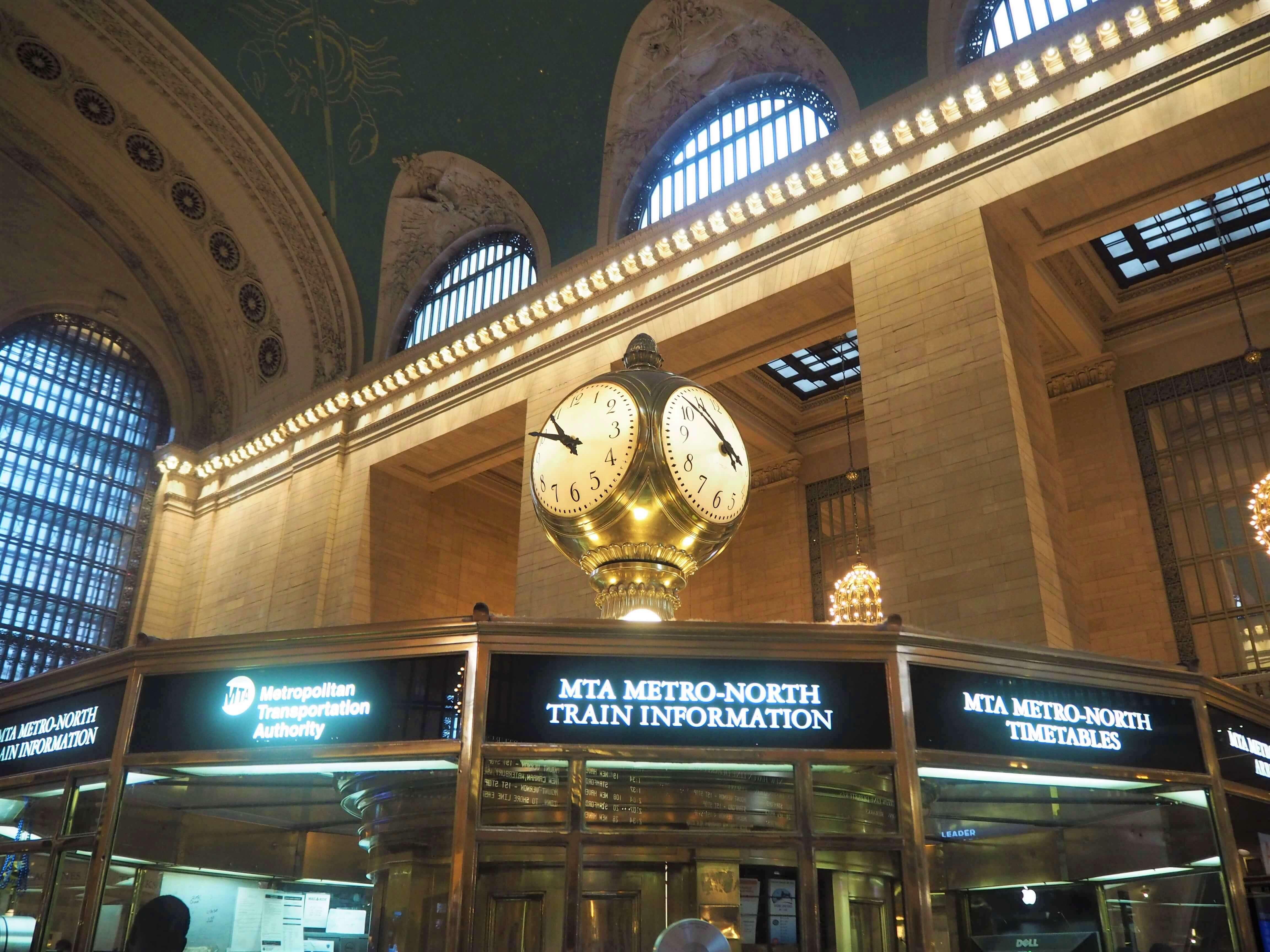 グランドセントラル駅の時計